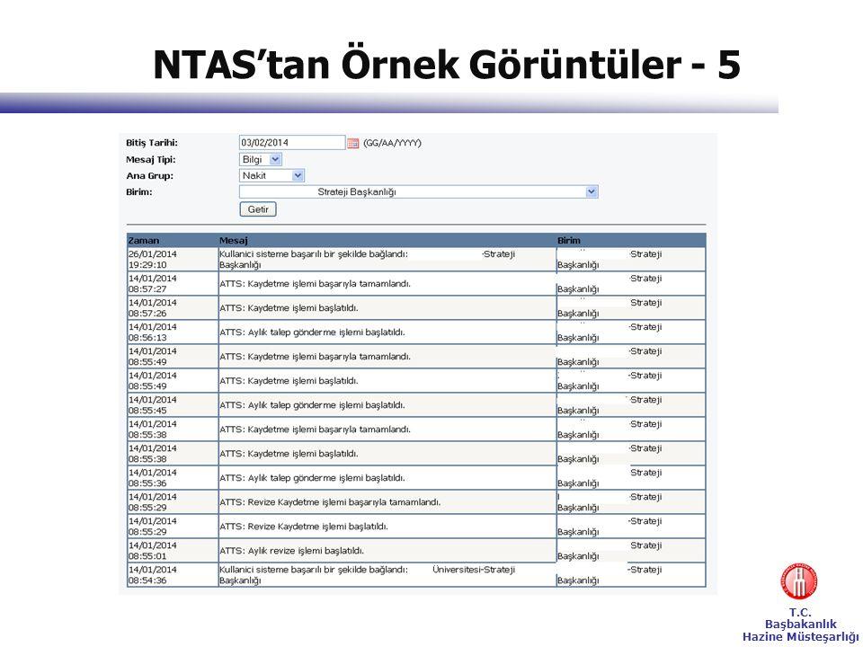 T.C. Başbakanlık Hazine Müsteşarlığı NTAS'tan Örnek Görüntüler - 5