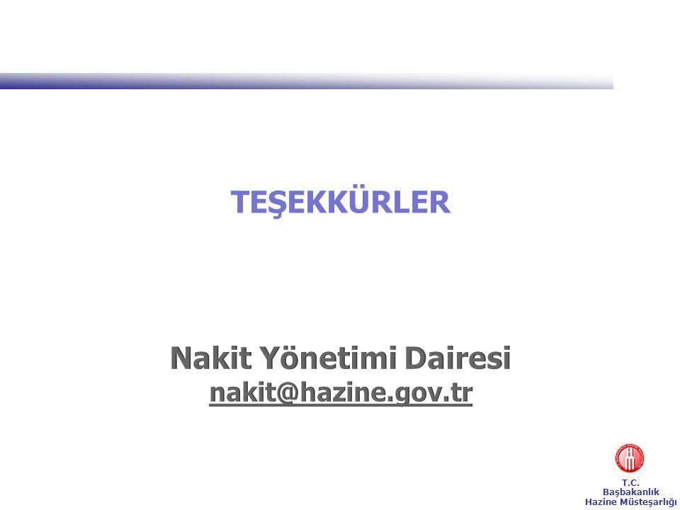 T.C. Başbakanlık Hazine Müsteşarlığı TEŞEKKÜRLER