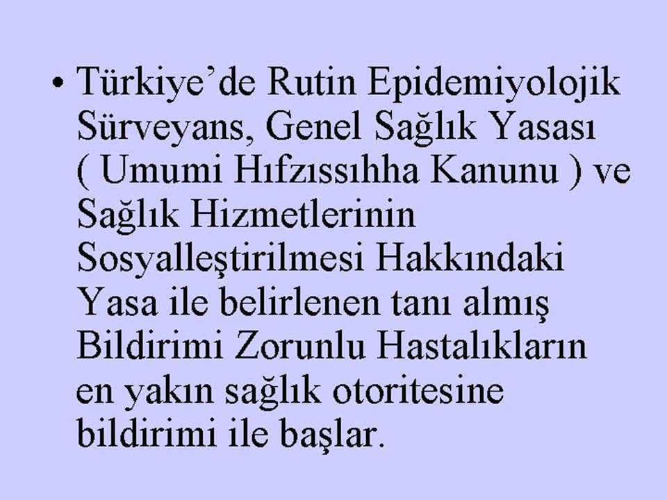Türkiye'de Rutin Epidemiyolojik Sürveyans, Genel Sağlık Yasası ( Umumi Hıfzıssıhha Kanunu ) ve Sağlık Hizmetlerinin Sosyalleştirilmesi Hakkındaki Yasa