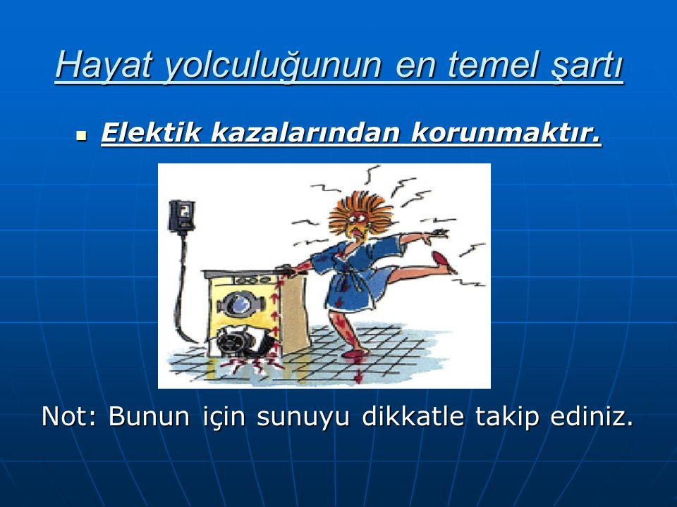 Elektrik çarpması nedir.