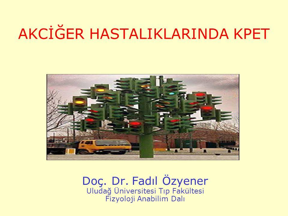 AKCİĞER HASTALIKLARINDA KPET Doç. Dr. Fadıl Özyener Uludağ Üniversitesi Tıp Fakültesi Fizyoloji Anabilim Dalı