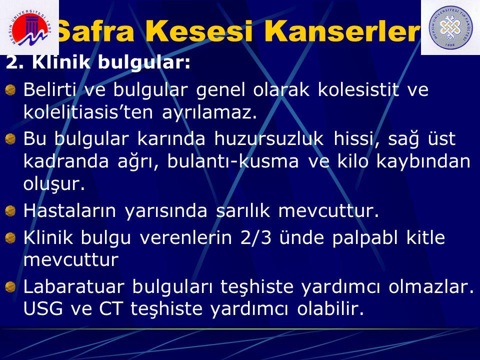 Safra yollarının Malign Tümörleri Tanı: e.