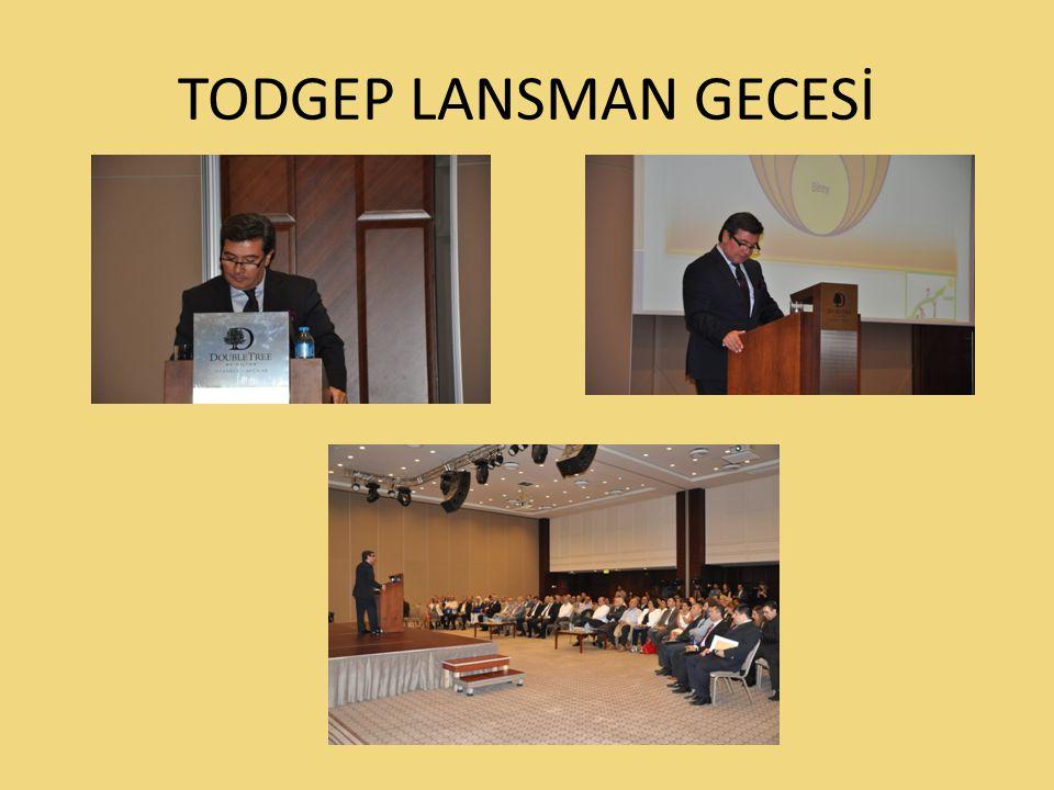 TODGEP Lansman Gecesi'nde 100 seçkin Sivil Toplum Kuruluşu Temsilcisi vardı.