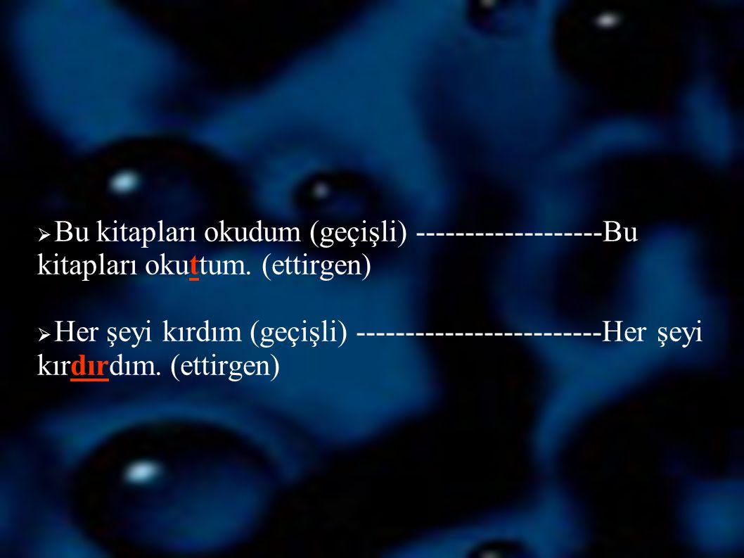 Öznesine Göre Çatı (Özne -Yüklem İlişkisi):  Öznenin yüklemle olan ilişkisine göre belirlenir.