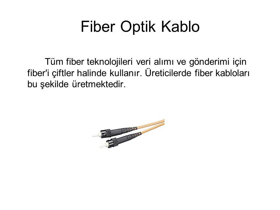 Fiber Optik Kablo Tüm fiber teknolojileri veri alımı ve gönderimi için fiber i çiftler halinde kullanır.