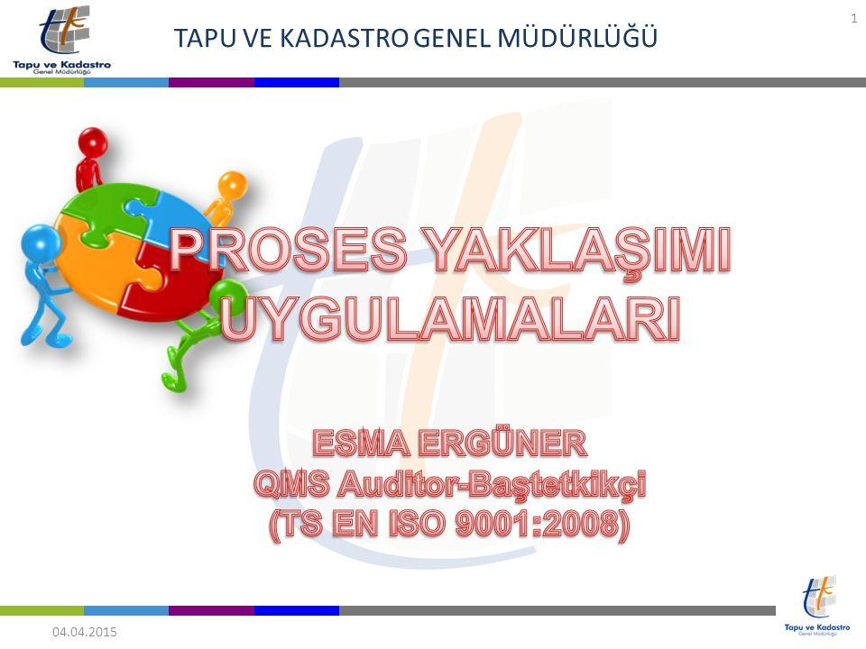 TAPU VE KADASTRO GENEL MÜDÜRLÜĞÜ 04.04.2015 1