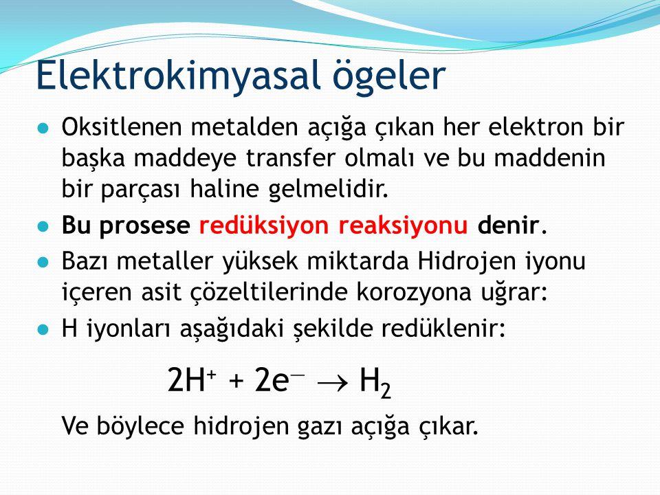 ●Oksitlenen metalden açığa çıkan her elektron bir başka maddeye transfer olmalı ve bu maddenin bir parçası haline gelmelidir. ●Bu prosese redüksiyon r