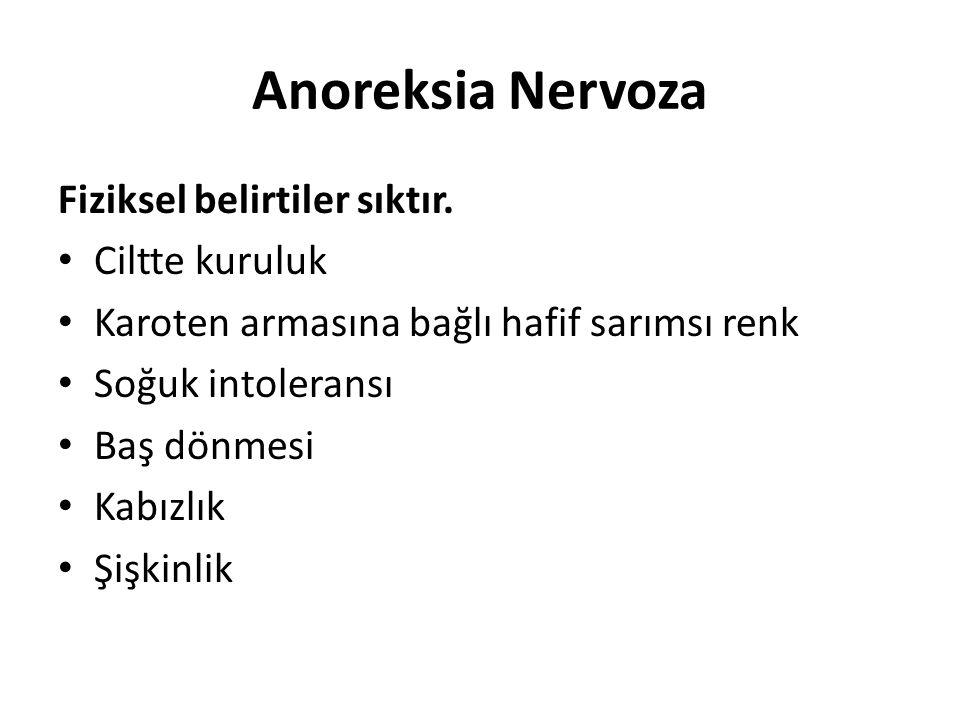 Anoreksia Nervoza Fiziksel belirtiler sıktır.