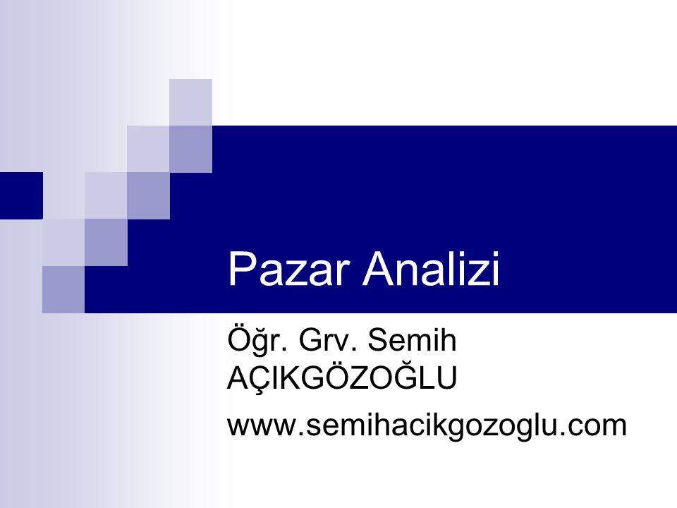 Pazar Analizi Öğr. Grv. Semih AÇIKGÖZOĞLU www.semihacikgozoglu.com
