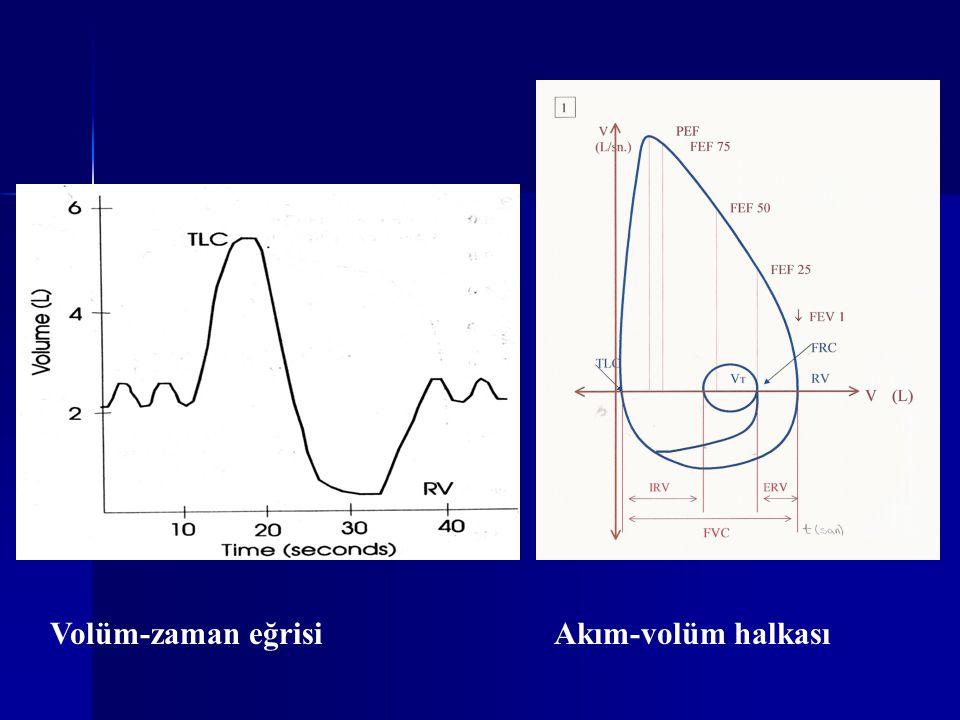 Volüm-zaman eğrisi Akım-volüm halkası