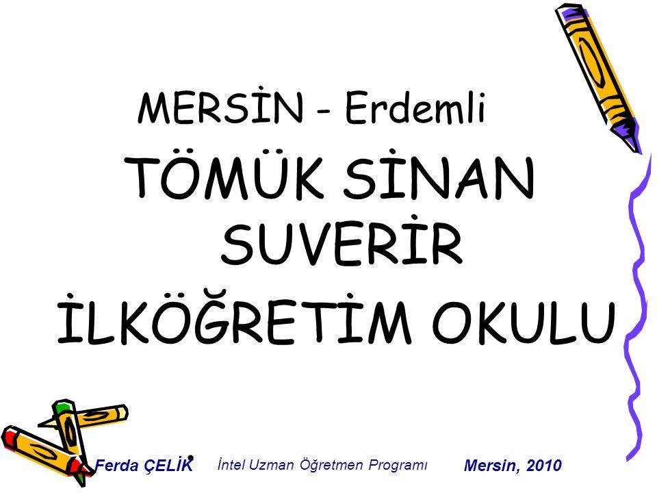 MERSİN - Erdemli TÖMÜK SİNAN SUVERİR İLKÖĞRETİM OKULU Ferda ÇELİK İntel Uzman Öğretmen Programı Mersin, 2010