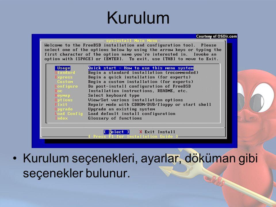 FDISK Fdisk ile partition'lar oluşturulur