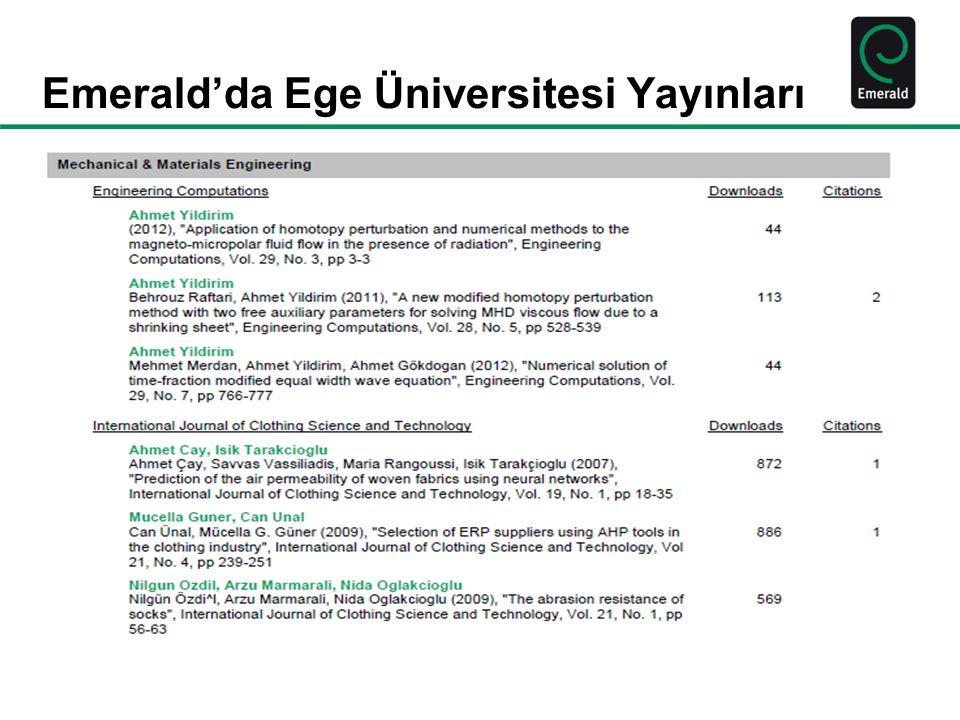 www.emeraldinsight.com Research you can use Yayın süreci ve hakemlik aşamasını başarıyla geçme
