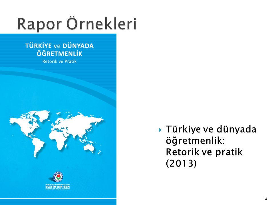  Türkiye ve dünyada öğretmenlik: Retorik ve pratik (2013) 14