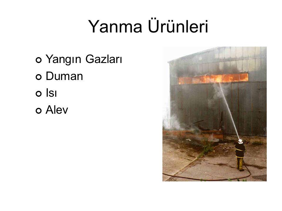 Yangın Gazları Duman Isı Alev Yanma Ürünleri