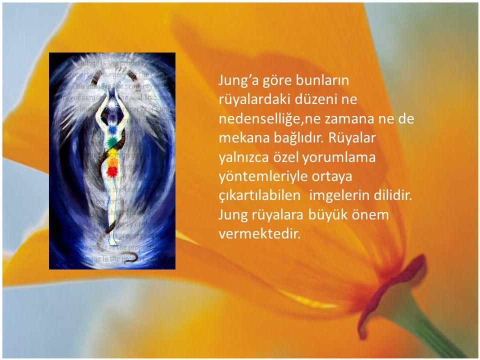 Jung'a göre bunların rüyalardaki düzeni ne nedenselliğe,ne zamana ne de mekana bağlıdır. Rüyalar yalnızca özel yorumlama yöntemleriyle ortaya çıkartıl