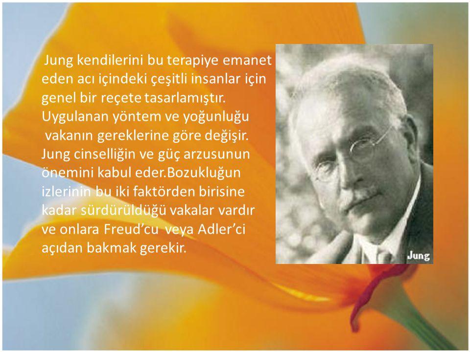 Jung kendilerini bu terapiye emanet eden acı içindeki çeşitli insanlar için genel bir reçete tasarlamıştır. Uygulanan yöntem ve yoğunluğu vakanın gere