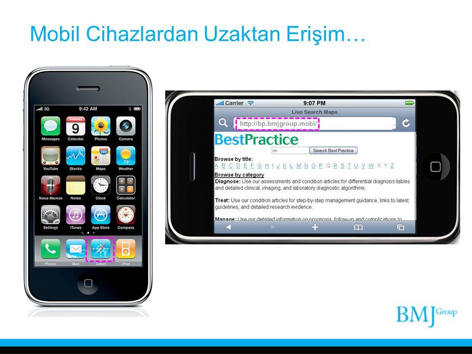 Mobil Cihazlardan Uzaktan Erişim… http://bp.bmjgroup.mobi/