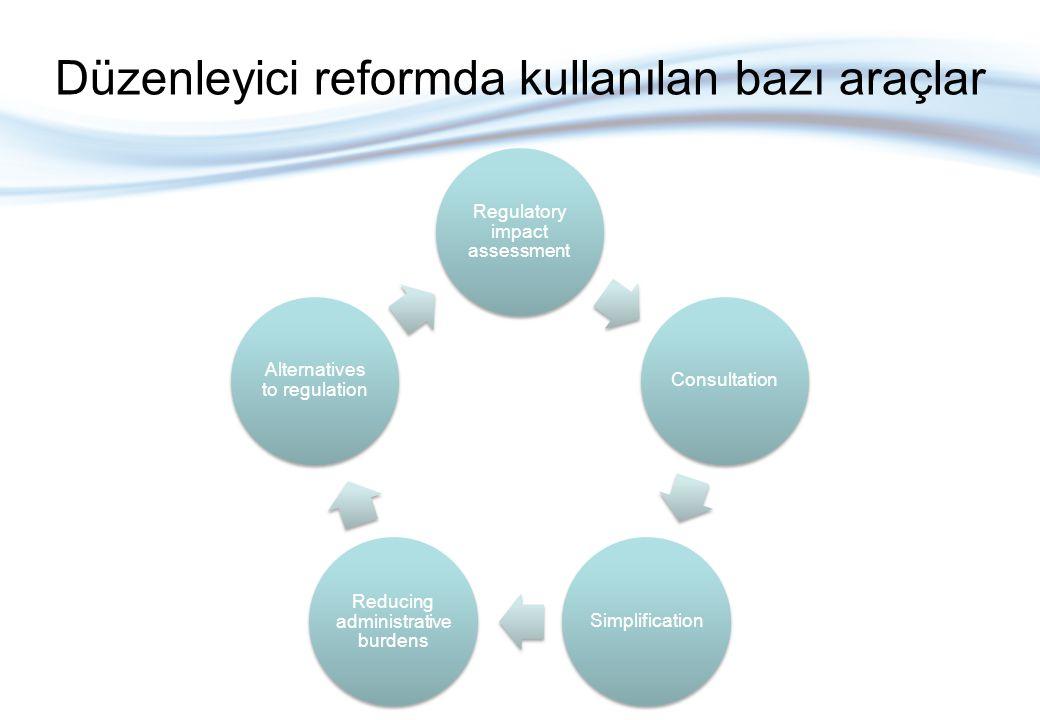 DEA düzenlemede karar almak için kanıtlara dayanan bir süreçtir Kapsamı şöyledir: Bütüncül ve sistematize sorular sorulması Şeffaf politika tartışması Ampirik gerekçelendirme Potansiyel etkilerin sistematik incelenmesi Yasamada tutarlılık Karar verenler ve paydaşlar ile iletişim Problemleri çözmek için bir öğrenme süreci