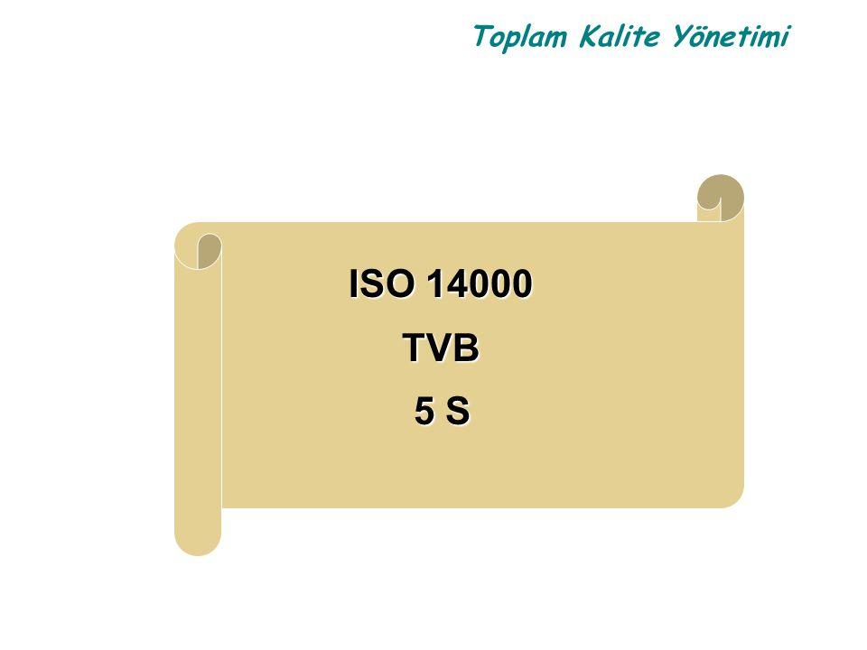 Toplam Kalite Yönetimi ISO 14000 TVB TVB 5 S 5 S