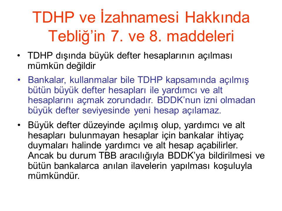 TDHP ve İzahnamesi Hakkında Tebliğ'in 7.ve 8.
