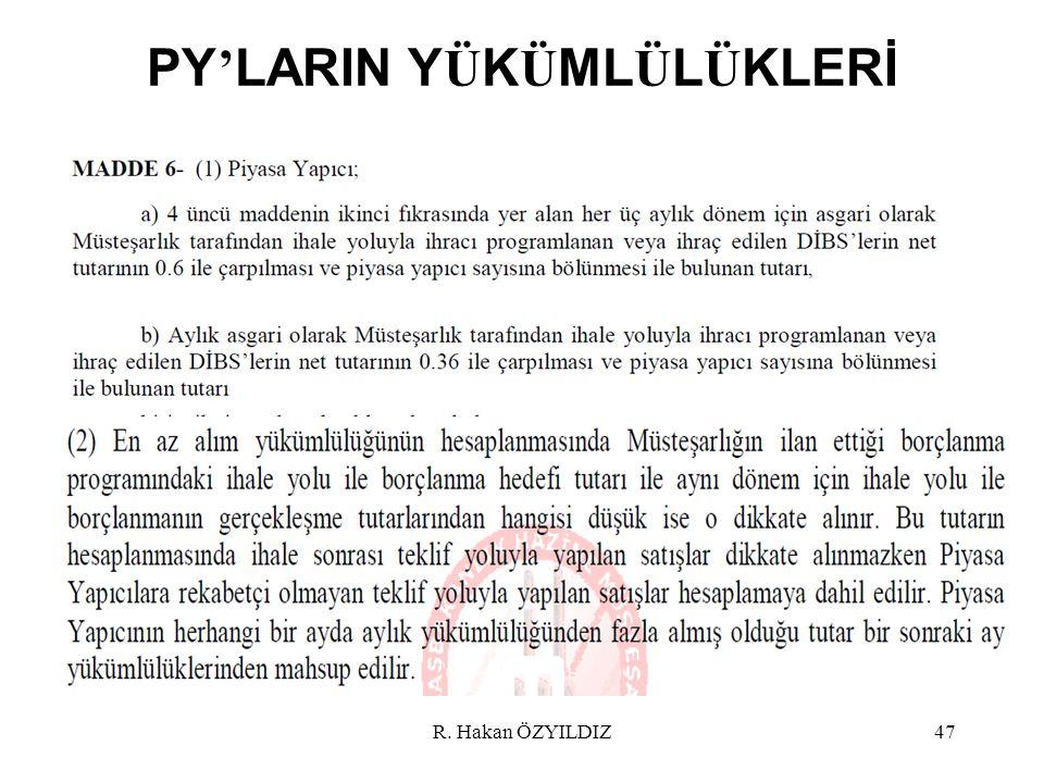 PY ' LARIN Y Ü K Ü ML Ü L Ü KLERİ R. Hakan ÖZYILDIZ47