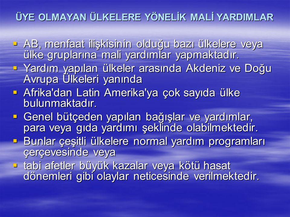 Devam…  Rakamlara bakıldığında Türkiye'ye yapılan mali yardımın bu ülkelerle özellikle üyelik öncesi benzer ekonomik yapıya sahip olduğu da dikkate alınırsa, karşılaştırma yapmak anlamsız olmaktadır.