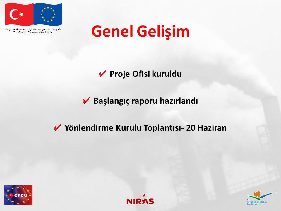 Genel Gelişim Proje Ofisi kuruldu Başlangıç raporu hazırlandı Yönlendirme Kurulu Toplantısı- 20 Haziran Bu proje Avrupa Birliği ile Türkiye Cumhuriyeti Tarafından finanse edilmektedir.