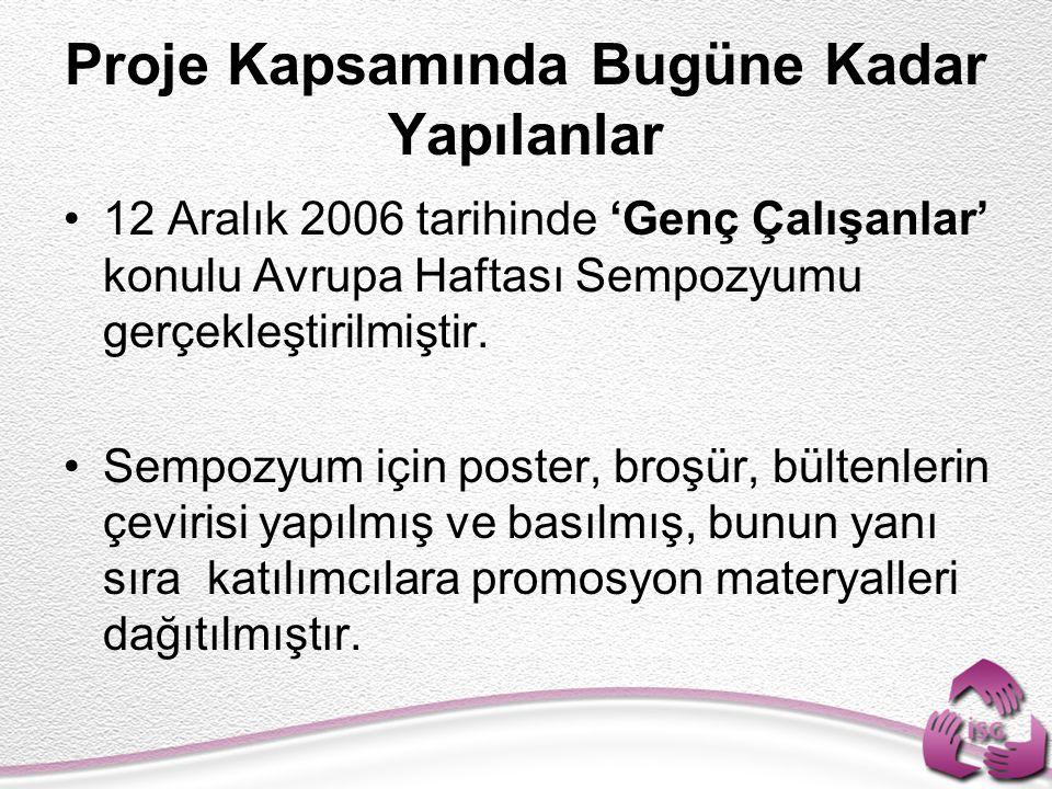 2007 yılı içinde çevirisi yapılması planlanan dokümanlar belirlenmiştir.