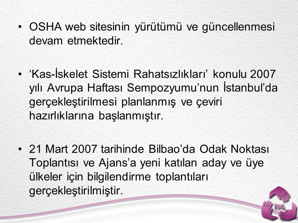Ajans'ın KOBI lere yönelik bir projesi olan 'HWI-Sağlıklı İşyerleri İnsiyatifi' seminerinin Türkiye'de de düzenlenmesi kararlaştırılmış ve hazırlıklarına başlanmıştır.