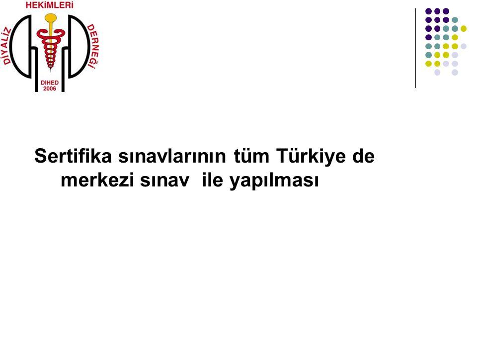 Sertifika sınavlarının tüm Türkiye de merkezi sınav ile yapılması