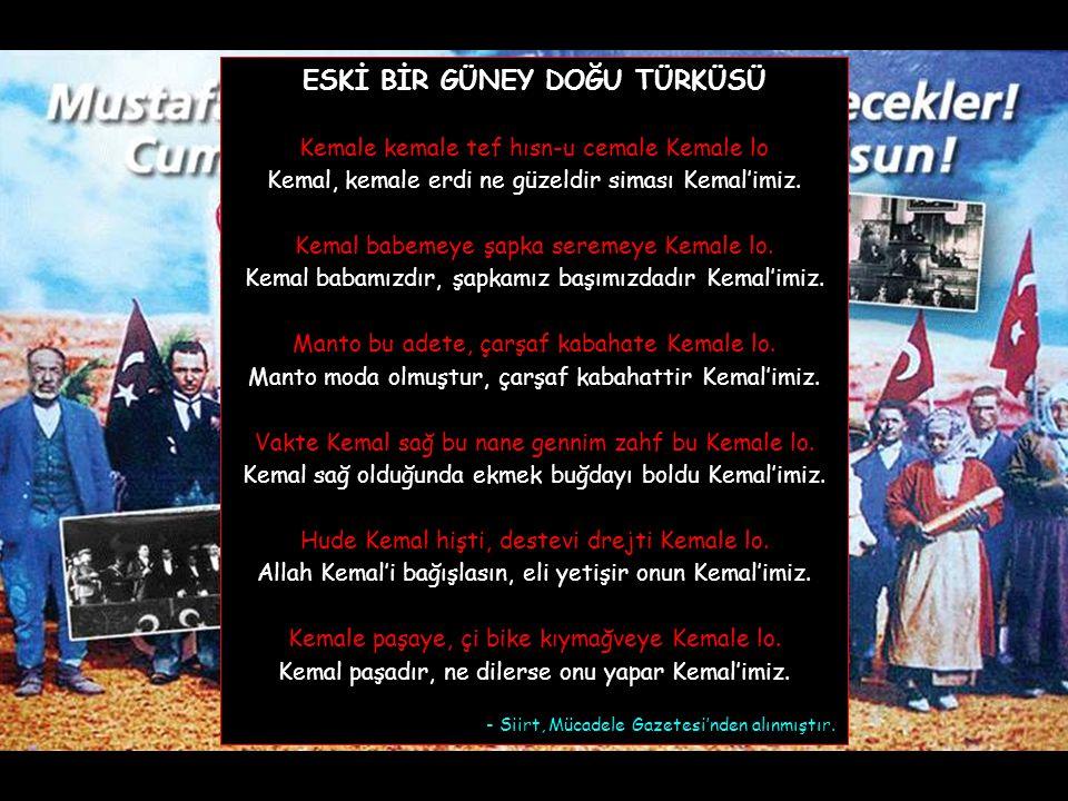 """""""Efendiler ! Türk milleti, kendini ve memleketin yüksek menfaatleri aleyhine çalışmak isteyen bozguncu, alçak, vatansız ve milliyetsiz beyinsizlerin s"""
