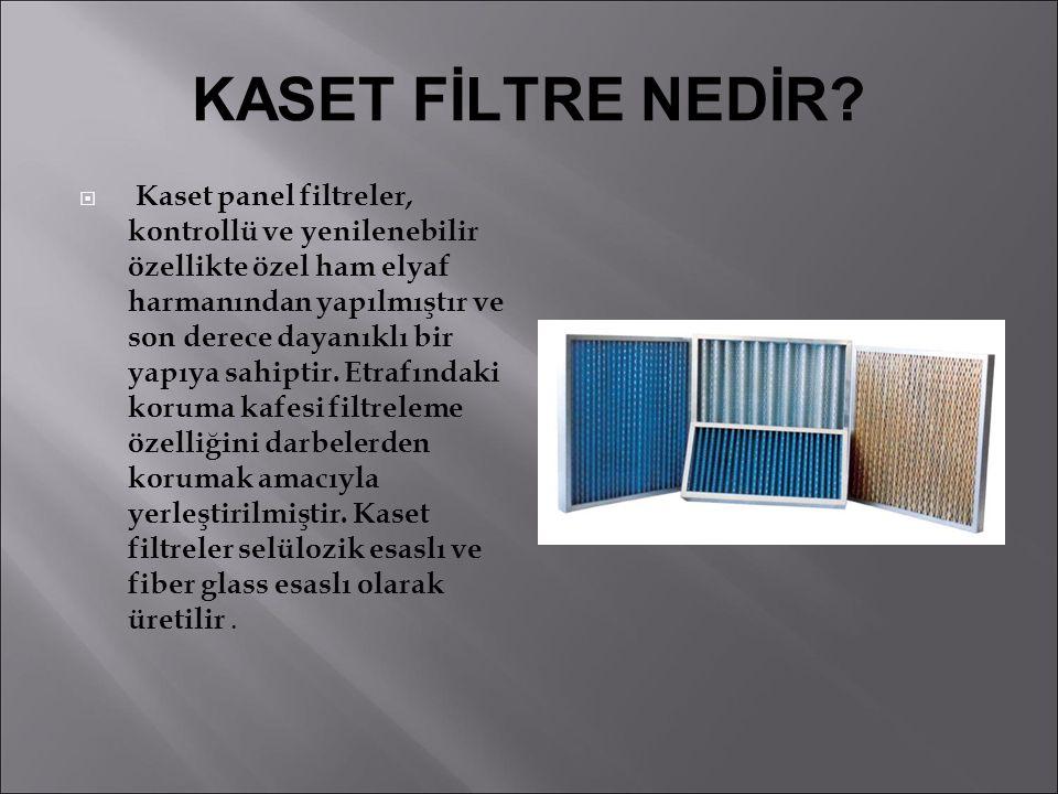 YÜKSEK DEB İ L İ HEPA F İ LTRELER HVF  Kullanım amacı: son kademe yüksek debili partikül tutucu filtre olarak kullanılır.