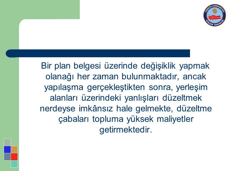 İmar planlaması ulusal planlamadan başlayarak bölge ve kent planlamasına doğru kademelenmesi gerekirken, Türkiye'de bu kademelenme bölge planlaması konusundaki eksiklikler sebebiyle ülkenin birçok bölgesinde uygulanamamıştır.