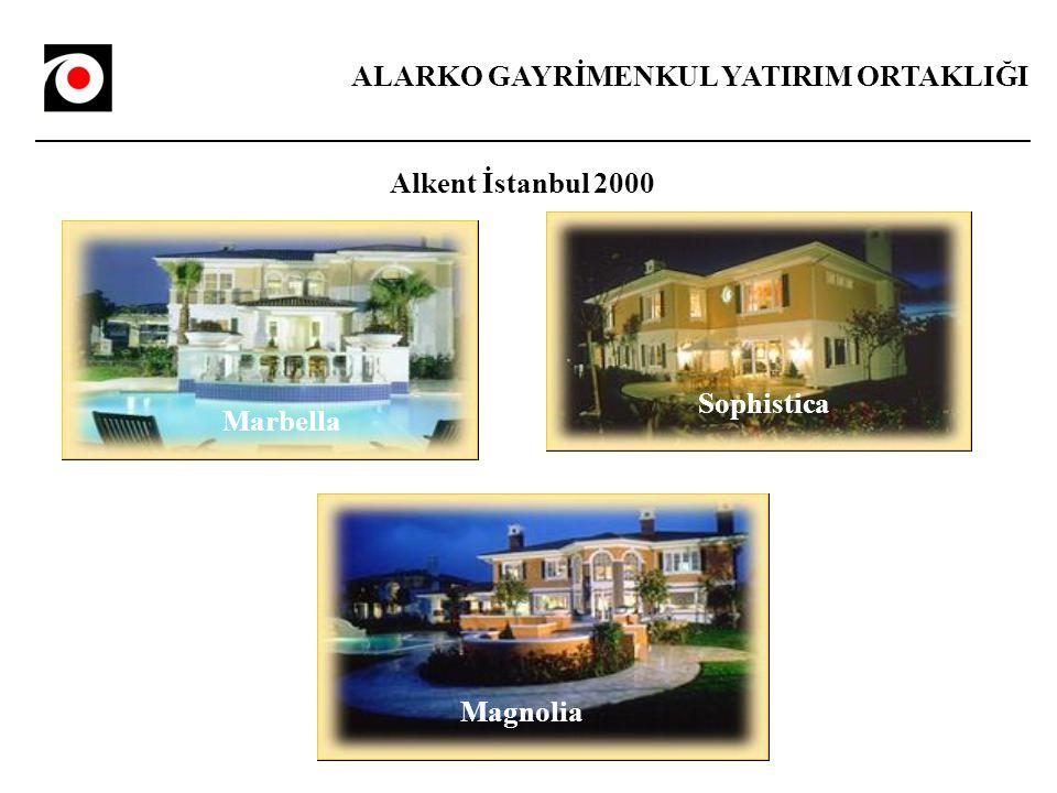 ALARKO GAYRİMENKUL YATIRIM ORTAKLIĞI Alkent İstanbul 2000 Marbella Sophistica Magnolia