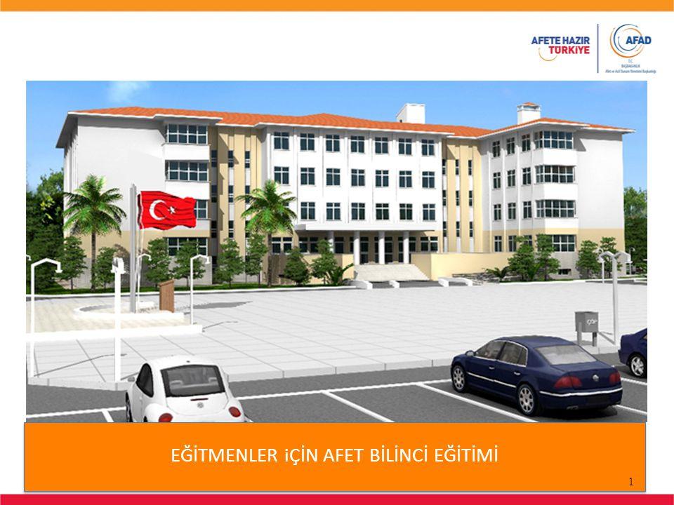 2 Bu eğitim sunumu Başbakanlık Afet ve Acil Durum Yönetimi Başkanlığı tarafından Afete Hazır Türkiye Afete Hazır Okul Bilinçlendirme ve Eğitim Kampanyası kapsamında hazırlanmıştır.