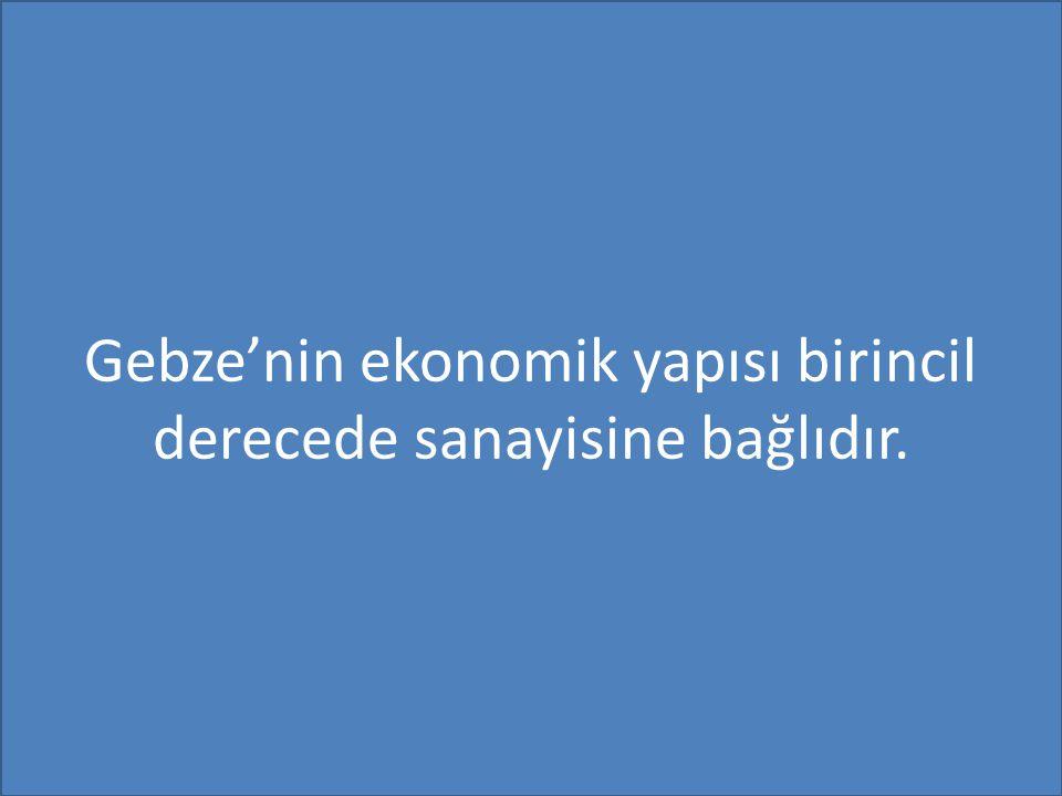 Gebze'nin ekonomik yapısı birincil derecede sanayisine bağlıdır.