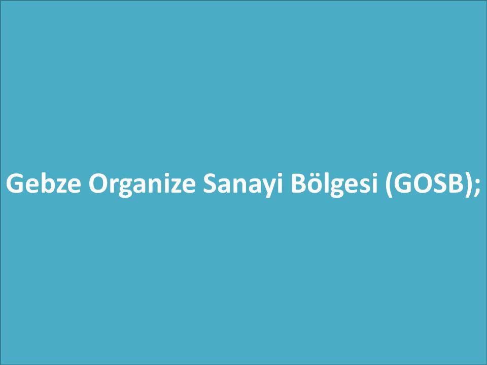 Gebze Organize Sanayi Bölgesi (GOSB);