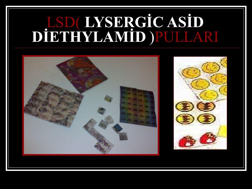 LSD( LYSERGİC ASİD DİETHYLAMİD )PULLARI