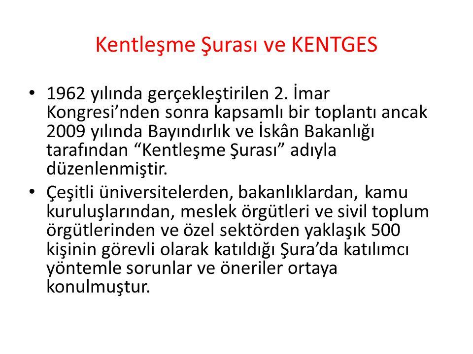Kentleşme Şurası ve KENTGES 1962 yılında gerçekleştirilen 2.