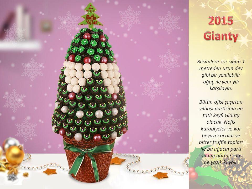 Resimlere zor sığan 1 metreden uzun dev gibi bir yenilebilir ağaç ile yeni yılı karşılayın.