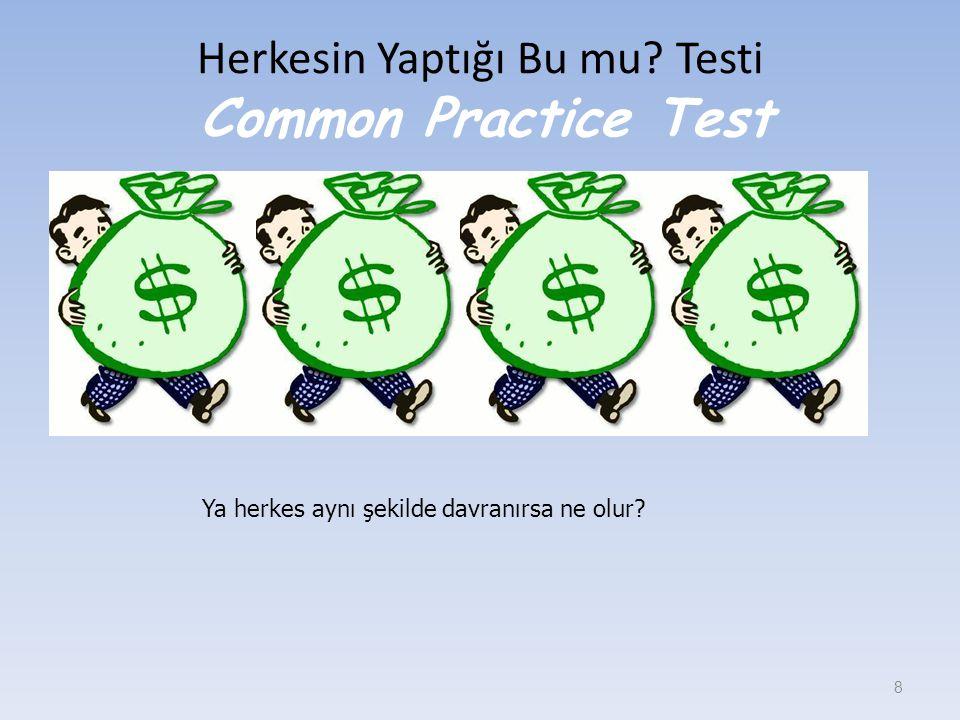 Herkesin Yaptığı Bu mu? Testi Common Practice Test 8 Ya herkes aynı şekilde davranırsa ne olur?