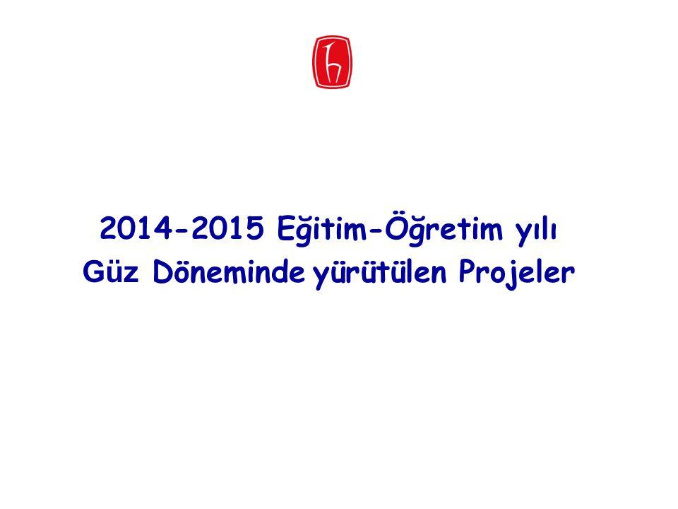 2014-2015 Eğitim-Öğretim yılı Güz Döneminde yürütülen Projeler