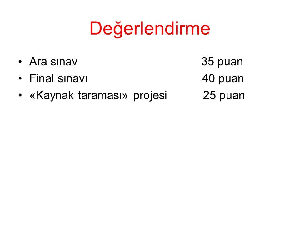 Kaynak Proje Döngüsü Yönetimi.