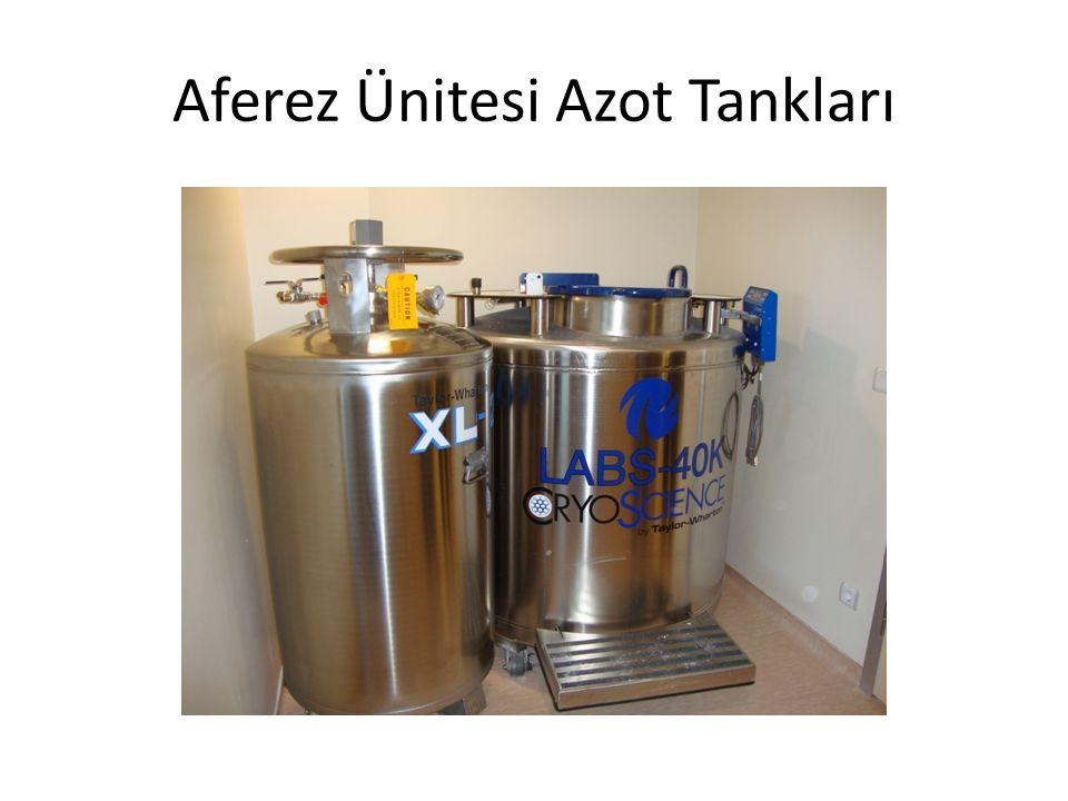 Aferez Ünitesi Azot Tankları