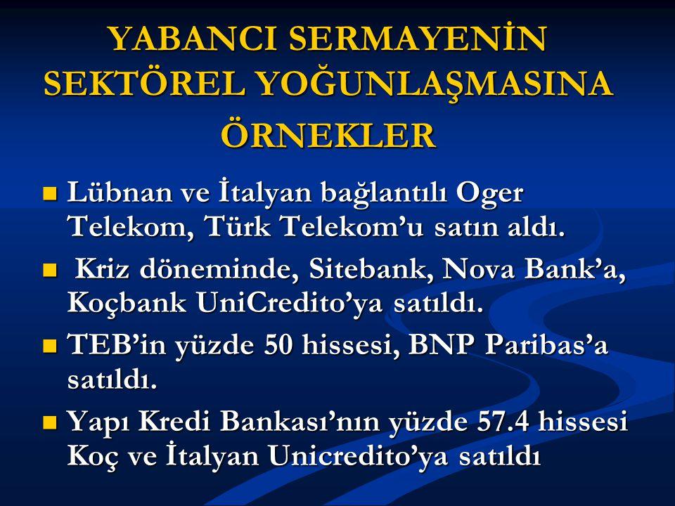 SEKTÖRLERE GÖRE ÖZELLEŞTİRMELER TELEKOMÜNİKASYON SEKTÖRÜ TELEKOMÜNİKASYON SEKTÖRÜ TÜRK TELEKOM TÜRK TELEKOM Türk Telekom AŞ nin yüzde 55 hissesi 2005 yılında toplam 6.5 milyar dolar karşılığında bir konsorsiyuma satıldı.