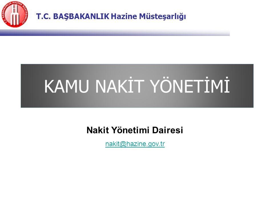 T.C. BAŞBAKANLIK Hazine Müsteşarlığı KAMU NAKİT YÖNETİMİ Nakit Yönetimi Dairesi nakit@hazine.gov.tr
