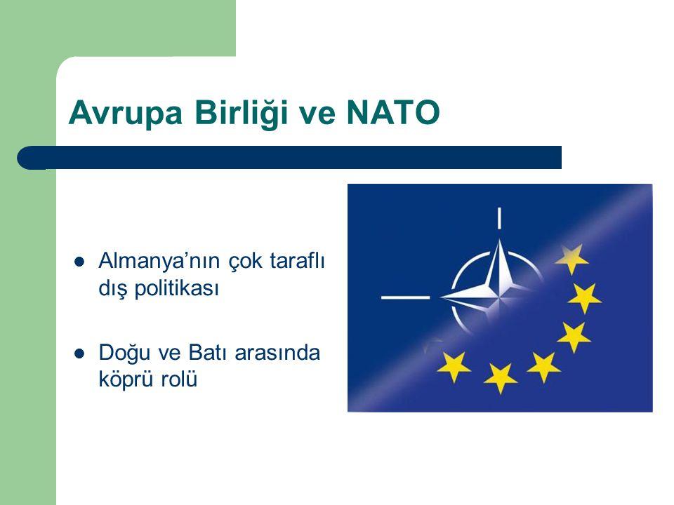 Avrupa Birliği ve NATO Almanya'nın çok taraflı dış politikası Doğu ve Batı arasında köprü rolü
