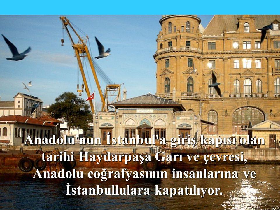 Yüzyıldır bir çoğumuzun denizi ve İstanbul un o efsanevi siluetini ilk kez gördüğümüz, henüz görmemiş olsak bile görkemini o nahif yerli filmlerden birinde mutlaka duyumsadığımız anılarımızın mekanı Haydarpaşa Garı nı da içine alan yaklaşık 1.000.000 m²lik alan, Dünya Ticaret Merkezi adı altında; IMF direktifleri ve ekonominin borç ödeme çarkının dönmesi bahanesi ile dünyanın varsıl emlak piyasası emrine sunuluyor.