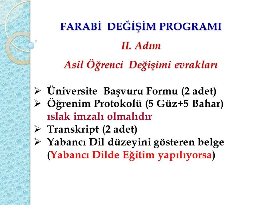 FARABİ DEĞİŞİM PROGRAMI II.